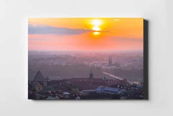 Wschód słońca nad Zamkiem Królewskim i Starym Miastem fotoobraz