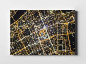Warszawa z lotu ptaka siatka ulic fotoobraz na płótnie z kolekcji WARSAW ON AIR