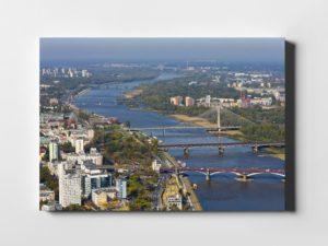 Warszawskie Mosty i Wisła – fotoobraz z kolekcji WARSAW ON AIR!