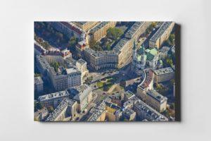 Plac Zbawiciela z lotu ptaka - fotoobraz z kolekcji WARSAW ON AIR!