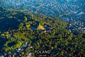 Krakow z lotu ptaka Kopiec Kościuszki