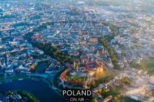 Krakow z lotu ptaka Wawel