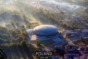Krakow z lotu ptaka Tauron Arena