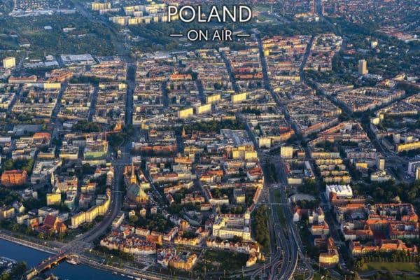 Centrum Szczecina o poranku - fotoobraz POLAND ON AIR