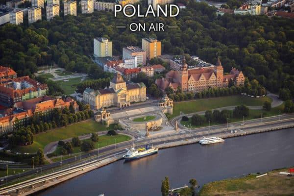 Wały Chrobrego i Muzeum Narodowe w Szczecinie