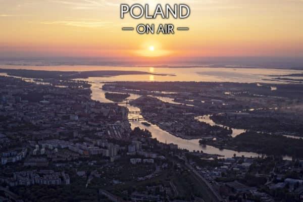 Wschód Słońca w Szczecinie - fotoobraz POLAND ON AIR