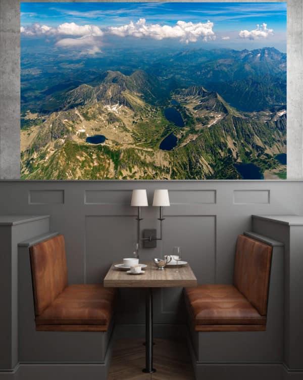 Dolina Pięciu Stawów z lotu ptaka fotoobraz POLAND ON AIR