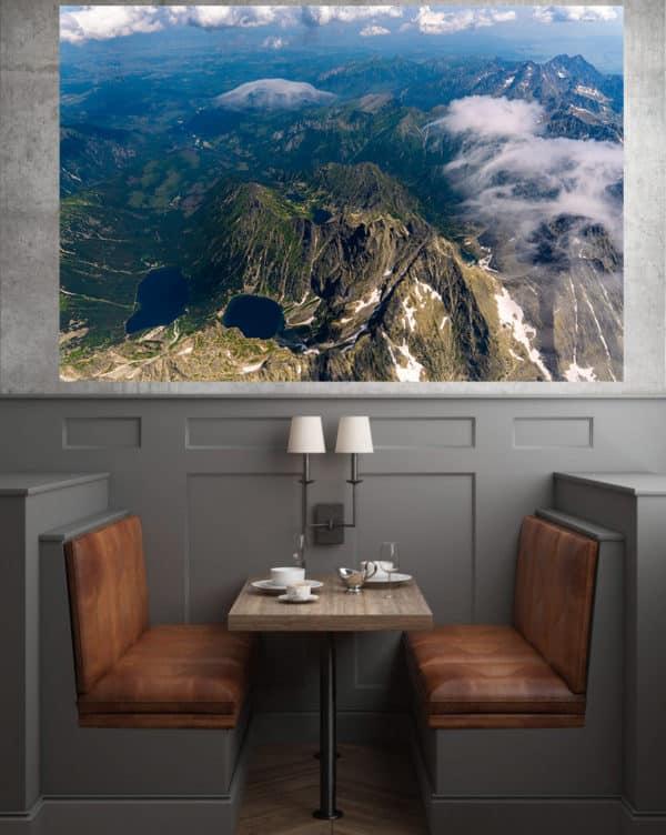 Morskie Oko i Rysy z lotu ptaka - fotoobraz