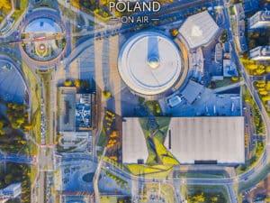 Geometryczne Centrum Katowic z lotu ptaka- fotoobraz z kolekcji SILESIA ON AIR