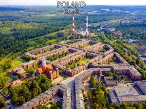 Katowice. Nikiszowiec z lotu ptaka – fotoobraz