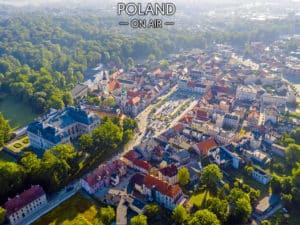 Pszczyna z lotu ptaka fotoobraz Silesia On AIR lo