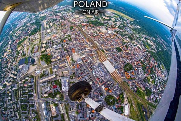 Katowice z samolotu