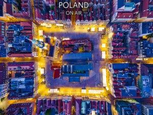 Rynek w Poznaniu z lotu ptaka - fotoobraz
