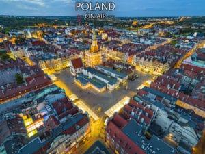 Poznańzlotuptaka rynek.Fotoobraznapłótnie