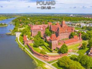 Zamek w Malborku z lotu ptaka fotoobraz